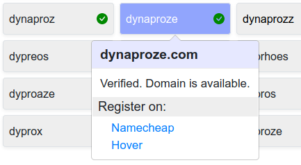 domain confirmation popup